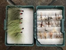 Scientific Anglers Fly Box Case With 25 Hand Made Quality Flies Vintage
