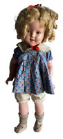 Shirley Temple 1930's Composition 18 Inch Antique Doll with Loop Dress