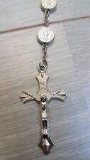 Rozenkrans zilver munt met heiligen