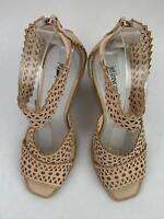 Jeffrey Campbell Besante Perforated Wedge Sandal sz 6