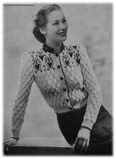 Ladies' 1940s 3 Ply Tyrolean Fair Isle Yoke Jumper Knitting Pattern 10038