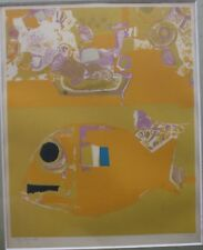 Roger BEZOMBES Lithographie lithograph farblithographie poisson jaune 1971-73 *