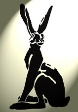 Shabby Chic Stencil Artistic Hare sitting Rabbit Rustic A4 297x210mm wall