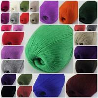 Sale New 1 ballx50g HIGHT QUALITY 100% Cashmere Hand Knitting Yarn Solid Color
