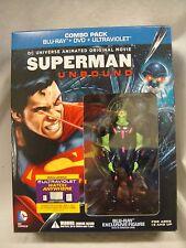 BEST BUY EXCLUSIVE! SUPERMAN UNBOUND FIGURINE Statue BLU-RAY DVD JLA STATUE
