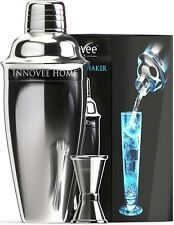Innovee Cocktail Shaker Set - Premium Bar Kit with 1 & ½ oz Double Measurer Jigg