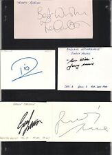 Carte signée Terry Gibson les 1986-1987 Manchester United footballeur