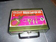 VINTAGE BERNZOMATIC MAXI TORCH KIT IN METAL BOX W/ PROPANE TANK & ACCESSORI
