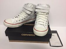 Converse all star 2 strap white leather hi tops UK 7 EUR 40 Excellent cond boxed