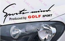 ☆New☆ Headlight Eyebrow Car Stickers Decals Graphics Vinyl For VW Golf(Black)