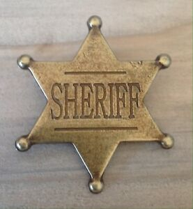 Gold 6 Point Sheriff Badge / Shield