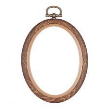 SIZE 3 INCH ROUND WOODGRAIN FLEXI HOOP *2 Pack of Frames* FREE P/&P 7.6 cm