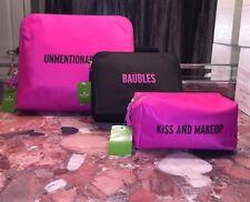 Nwt $200 Kate Spade Travel Bag Set 3pc BON VOYAGE Cosmetic Case Jewelry MAKEUP