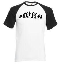 T-shirt manches courtes contrasté homme BLANC/NOIR coton EVOLUTION GEEK