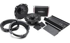 ROCKFORD FOSGATE PUNCH 300 WATT FRONT SPEAKER & AMP KIT HARLEY 98-'13 FLHX FLTR
