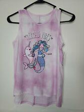 New Tags Wonder Nation Girls Large Plus 10-12 Pink Tie Dye Mermaid Vibes Slit