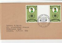 Gibraltar 1983 Commonwealth day cancel to england stamps cover ref 21481