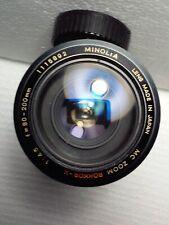 Minolta Mc Zoom Rokkor X 80-200mm f4.5 Lens