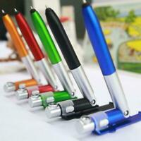 Multifunction 4 in 1 Ballpoint Pen Folding LED Light Stand Mobile Holder Ph Q7X8