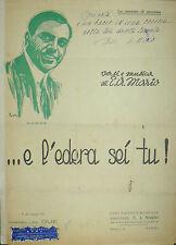 SPARTITO ...E L'EDERA SEI TU -  GABRE' ANNO 1920  - CASA EDITRICE E.A. MARIO