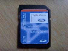 GENUINE FORD SAT NAV NAVIGATION SD CARD 2010 WESTERN EUROPE + TURKEY FOCUS