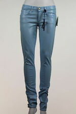 NEW Juicy Couture Jeans Size 27 Skinny Light Blue Metallic Pants