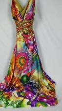 Xcite Pyschedelic Retro Festive Show Stopper Size 12  Prom Evening Gown Dress