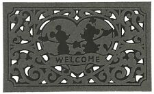 Disney Washable Doormat Mickey & Minnie Gray Green Brown Red Entrance mats JAPAN