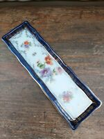 Vintage Ceramic Dressing Table Pin Tray. Floral design.