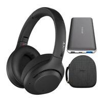 Sony WH-XB900N EXTRA BASS Wireless Noise Canceling Headphones (Black) Bundle