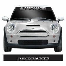 Supercharged Windscreen Sunstrip For Gen 1 R53 Mini Cooper S & JCW Car Sticker