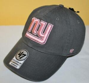 NWT New York Giants Women's '47 Brand Adjustable Strapback Hat Pink & Grey *C1