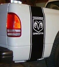 DAKOTA 4x4 RACING RALLY STRIPES DODGE Vinyl Decal Sticker Emblem Graphics x 2