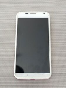 Motorola MOTO X - 16GB - White with pink back (AT&T) Smartphone Cracked screen
