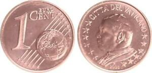 Vatikan 1 Cent 2003 Kursmünze mit Papstmotiv prägefrisch