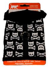 New listing Simply Cat Kitten Pet Harness 5 - 10 Pounds Black New Skull Bones Hoodie