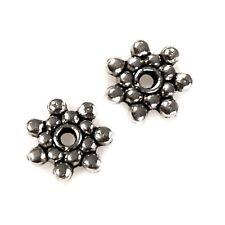 Zwischenelement, Zierperle aus Metall, 8mm, silbern (10 Stück)