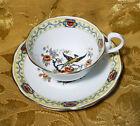 VINTAGE c.1920s RARE ROYAL ALBERT BIRD OF PARADISE CUP & SAUCER GOLD TRIM