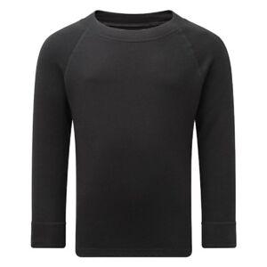 *NEW* Steiner Soft-Tec Kids Long Sleeve Vest Thermal Base Layer  Black 3-13 yrs