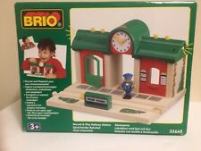 BRIO Record & Play Wooden Railway Station - New in Box