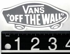 "VANS 4"" CLASSIC GREY STICKER Vans Off The Wall Skate Surf Snowboard Decal"
