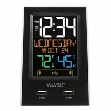 C86224 La Crosse Technology Color Digital Alarm Clock - BUY 1, GET 1 AT 50% OFF