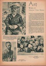 ARTIST VINCENT VAN GOGH - ONE MAN EXHIBITION 1935 Self Portrait,In Church