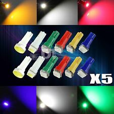 30 Mix Color 12V LED T5 Wedge Instrument Dashboard Gauge Light Bulbs Combo