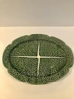 Bordallo Pinheiro Large OVAL SERVING PLATTER CABBAGE LEAF GREEN  PORTUGAL