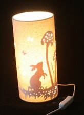 Hare / Rabbit and Mushroom  Country Scene table lamp or bedside lamp