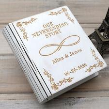Personalized Wedding Ring Box Book Shape Wood Custom Ring Holder Wedding Gift