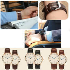 10-24 mm Leather Wrist Watch Band Strap High Quality Universal Unisex Watchband