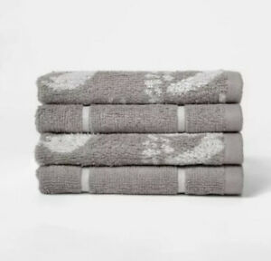 """4 Project 62 Cotton Woven Pattern Washcloths 