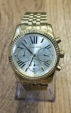 Michael Kors MK5556 Lexington Stainless Steel Gold Dial Analog Watch Y144 + Box